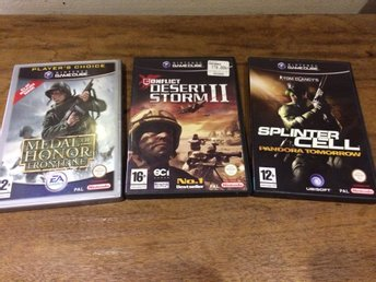 Nintendo, Gamecube***Dessert Storm, Medal of Honor, Splinter Cell***