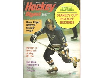 HOCKEY DIGEST 1973 (1/7) May - Pro Hockey's Monthly Magazine