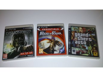 - 3-Pack Action GTA IV Dishonored Prince of Persia #REA!# PS3 -