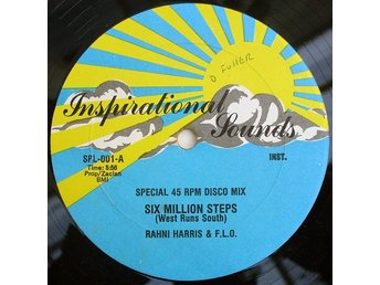 "Rahni Harris & F.L.O. – Six million steps (Inspirational Sounds 12"")"