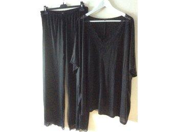 Siden pyjamas svart L XL Twilfit med spets (335732287) ᐈ Köp på Tradera 4fe0f57f3f2ac
