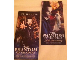 Phantom of the opera flyers (Obs the 30th anniversary flyer included)