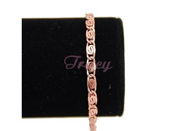 4.mm Womens Girls Chain Necklace Snail Rose Gold Filled Bracelet