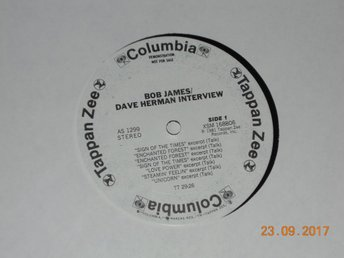 BOB JAMES - Bob James/Dave Herman Interview, LP promo Tappan Zee USA 1981