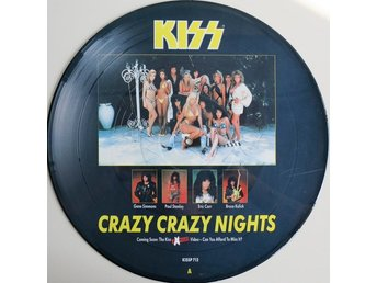 "KISS 'Crazy Crazy Nights' 1987 UK 12"" picture-disc"