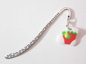 Jul strumpa bokmärke / Christmas stocking bookmark