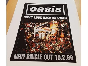 OASIS DONT LOOK BACK IN ANGER 1996 POSTER