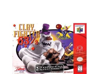 CLAY FIGHTER 63 1/3 till Nintendo 64, N64
