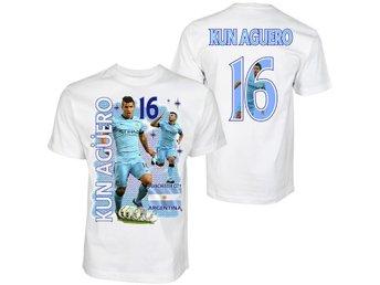 Tshirt med Kun Aguero Manchester City & Argentina - Tryck fram & bak 160cl - Markaryd - Tshirt med Kun Aguero Manchester City & Argentina - Tryck fram & bak 160cl - Markaryd