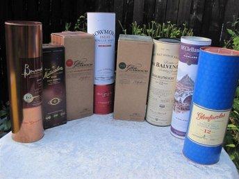 Unik samlning, 8 st Whisky emballage / Whisky lådor - Veberöd - Unik samlning, 8 st Whisky emballage / Whisky lådor - Veberöd