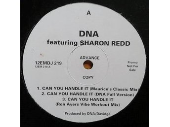 "DNA Featuring Sharon Redd title*  Can You Handle It* House 12"", Promo UK"