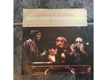 "DIONNE & FRIENDS - THAT´S WHAT FRIENDS ARE FOR. ( 7"") elton john, s wonder"