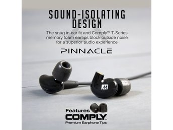 In-Ear hörlurar  avtagbara kablar MEE audio Pinnacle2
