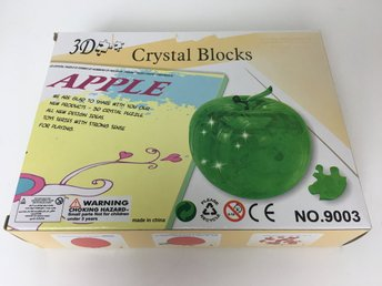3D-pussel - Crystal Blocks - Apple - Green - 44 bitar