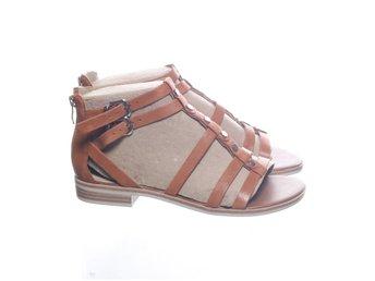 Sandaler, Strl: 37, Brun, Skinn