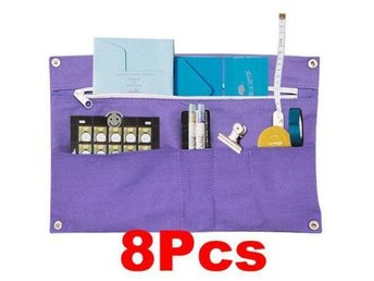 8Pcs!NY! MultiFuction Förvaring Storage Bag Organizer Purple