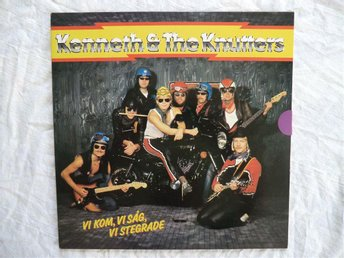 KENNETH & THE KNUTTERS  LP VI KOM VI SÅ VI STEGRADE  1983 Mint
