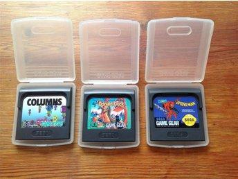 3X Game Gear Spel - Donald Duck, Columns & Spider-Man - Hägersten - 3X Game Gear Spel - Donald Duck, Columns & Spider-Man - Hägersten