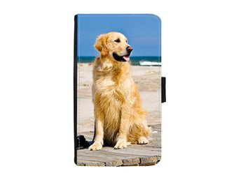 Golden Retriever iPhone 5 / 5S / SE Plånboksfodral