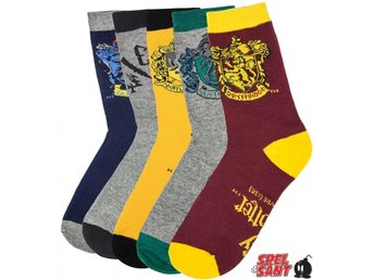 Harry Potter Crest Strumpor 5-Pack (Storlek 37-46)