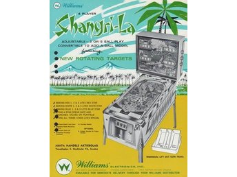 Original flyer Williams SHANGRI-LA