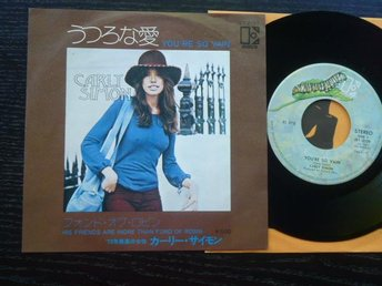 CARLY SIMON - Your'e so vain/His friends..  Elektra Japan -72