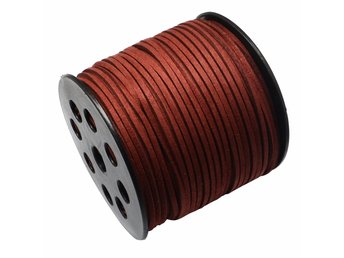 Mockaband 3 mm dark red - HEL RULLE - 91 meter