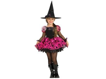 MOONLIGHT MAGIC WITCH (5-7 år) HALLOWEEN Blinkande klänning + hatt