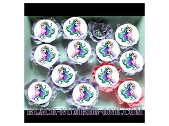My little pony tårtoblater - Enhörning cake / muffin toppers