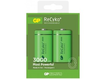 GP Batteri ReCyko C, 300CHCBE-2GB2/R14, 2-pack (Rechargeable) /201150