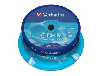 VERBATIM CD-R 52x 700MB 25-pack Spindel