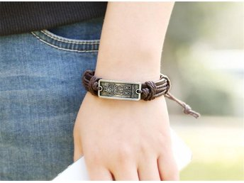 Armband Läder Viking - Stigen - Armband Läder Viking - Stigen