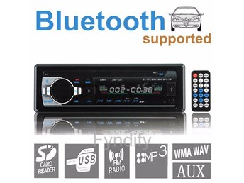Bilstereo Bluetooth Car Stereo Radio SD/USB/FM/WMA/IPOD Player Aux Input