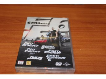DVD-box: Fast & Furious - 6 movie collection (NY, INPLASTAD!)