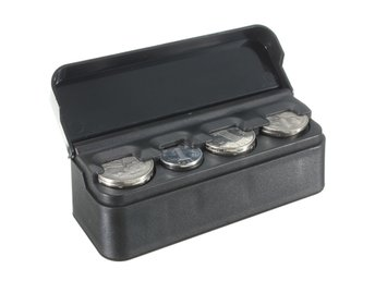 Car Interior Plastic Coin Case Storage Stored Box Holder ...