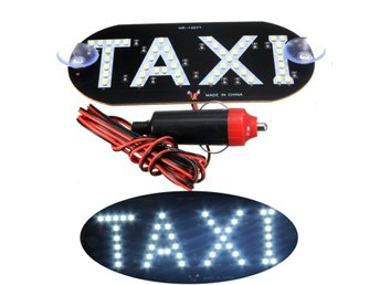 Car White LED Cab Taxi Roof Sign Light 12V Vehical Inside...