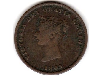 NEW BRUNSWICK 1/2 PENNY TOKEN 1843