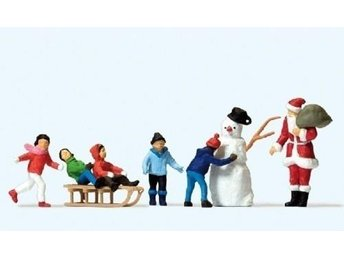 Preiser 10626 - Jultomte, snögubbe och barn 1:87 - Munka-ljungby - Preiser 10626 - Jultomte, snögubbe och barn 1:87 - Munka-ljungby