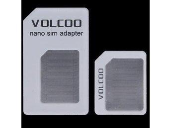 2 i 1 Volcoo Nano SIM kort till Micro/nano SIM kort Adapter - Kinna - 2 i 1 Volcoo Nano SIM kort till Micro/nano SIM kort Adapter - Kinna