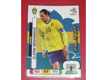 2012 Euro Panini Adrenalin XL Zlatan Ibrahimovic Star Player #211