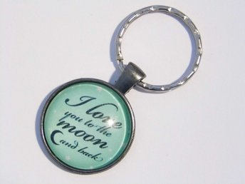 Love you to the moon nyckelring / keyring