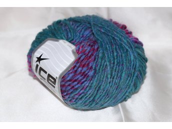 Virginia Wool, turkos/lila, 50 g