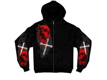 Cross & Skull Hoddie Large.