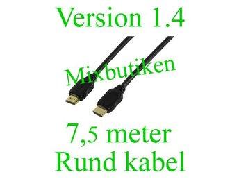 7,5 meter version 1.4 /1080p HDMI-kabel. Guldpläterad, High Speed m. Ethernet - Forsbacka - 7,5 meter version 1.4 /1080p HDMI-kabel. Guldpläterad, High Speed m. Ethernet - Forsbacka