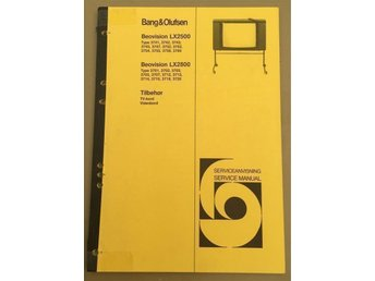 Bang & Olufsen servicemanual Beovision LX 2500/2800
