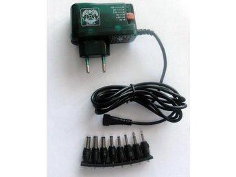 Javascript är inaktiverat. - Mölnlycke - Velleman Strömadapter med variabel utspänning mellan 3 - 12 V. Max 1,5 A 8 stycken olika utbytbara DC kontakter enligt tillverkarens hemsida (se nedan) Specifications input: 100-240Vac 50/60Hz 180mA power: 10W max. output current: 1500mA ou - Mölnlycke