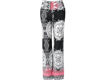 Leggings Raka Ben 60-70 tal Retro Vintage Mönster Hippie 40 L