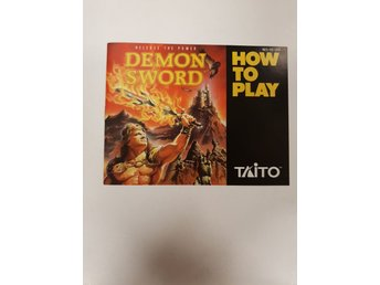 Demon Sword - Manual NES NINTENDO - USA