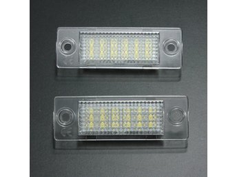 2x LED License Number Plate Light for VW Caddy T5 Golf Pa...