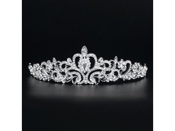 Tiara Prinsess Krona Bridal Princess Crystal Tiara Wedding Crown